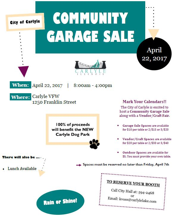 2017 Community Garage Sale Flyer2
