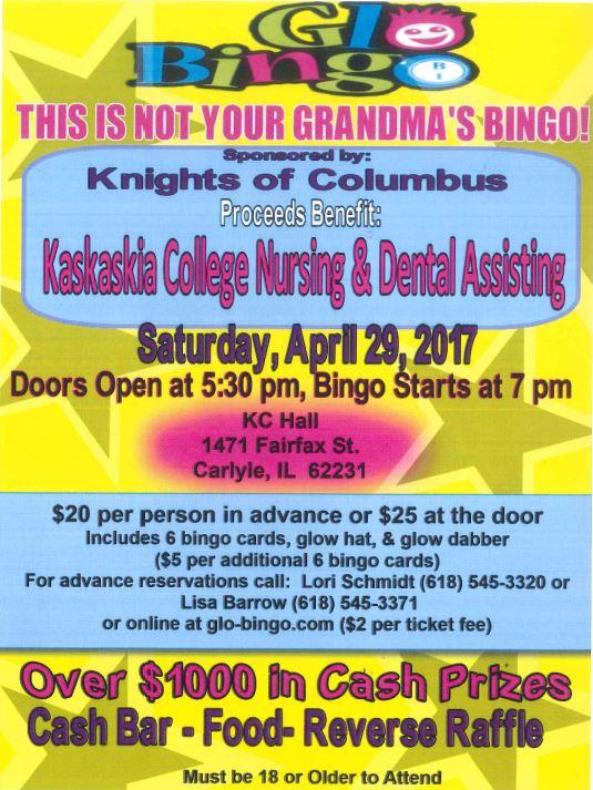 2017 Glo Bingo-KC Nursing & Dental
