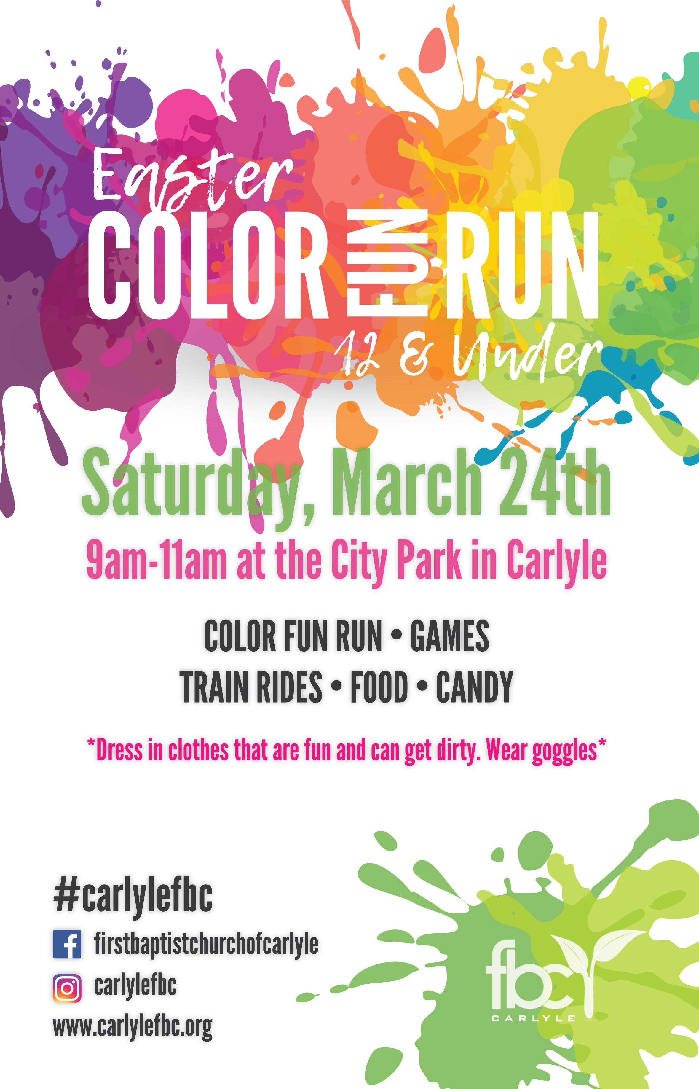 Color Fun Run The City Of Carlyle Illinois Carlyle Lake Illinois