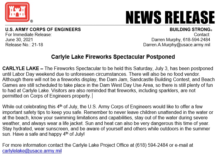 2021 Postponed Fireworks