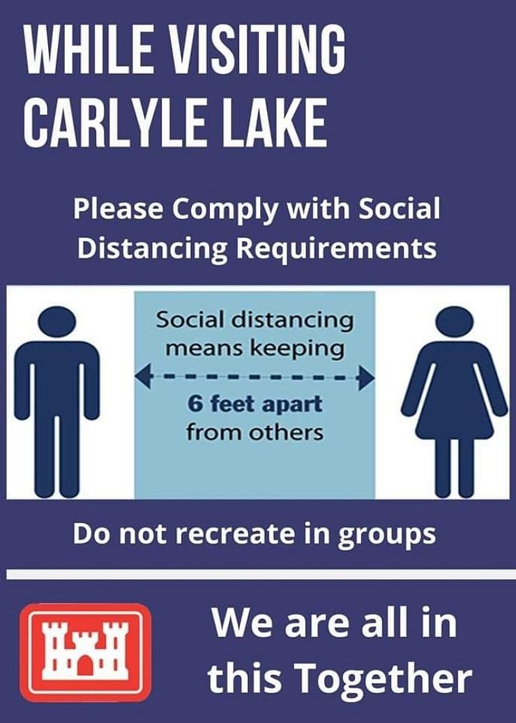 Social Distancing at Carlyle Lake